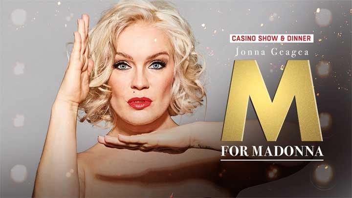 M for Madonna: Jonna Geagea – Casinon pikkujoulushow & dinner