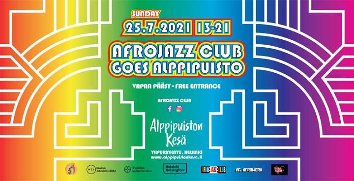 Afrojazz Club goes Alppipuisto 2021