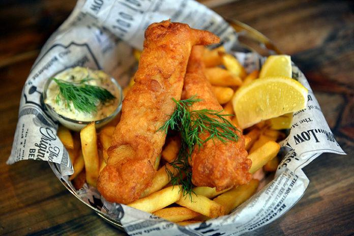 Huurteen Fish & Chips -annos