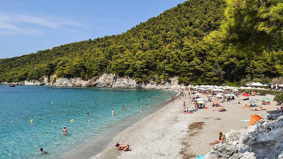 Kastani ranta Skopeloksen saarella