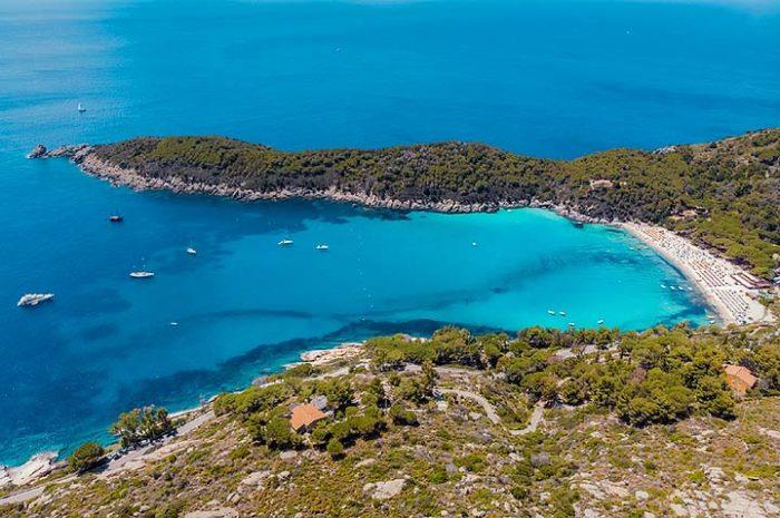 Fetovaian ranta Elban saarella Italian Toscanassa